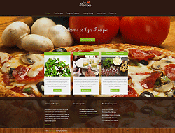 Joomla! Restaurant Template - Lyn Recipes PT