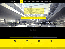 One page Joomla! Template - Scroll PT
