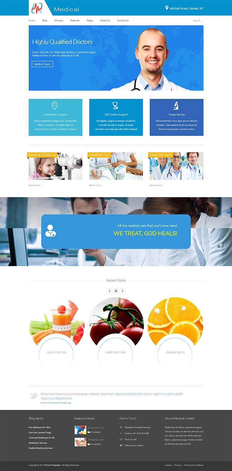 Medical Joomla! template