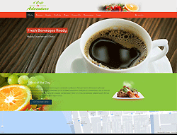 Joomla! Restaurant Template - Cafe la Adventure PT