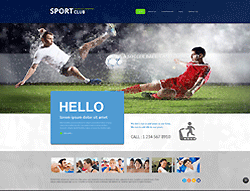 Sport Club Joomla! Template - 002067