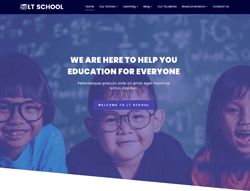 Top Joomla! Template - LT School