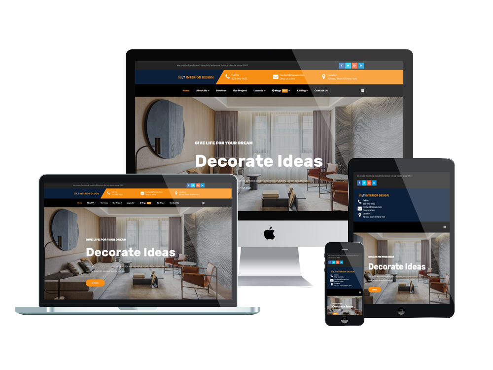 LT Interior Design Joomla template