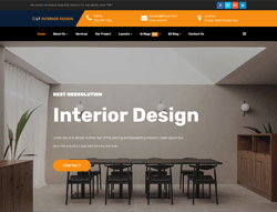 Interior Joomla! 3 Template - LT Interior Design