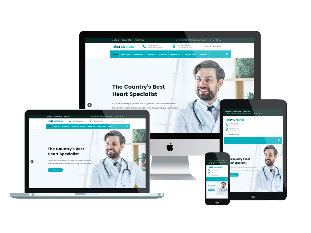 LT Medical Joomla template