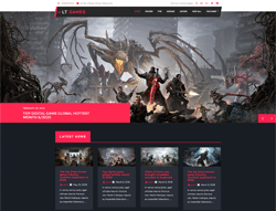 Gaming Joomla Template - LT Games
