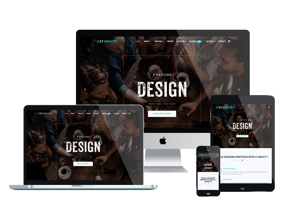 LT Gravity Joomla template