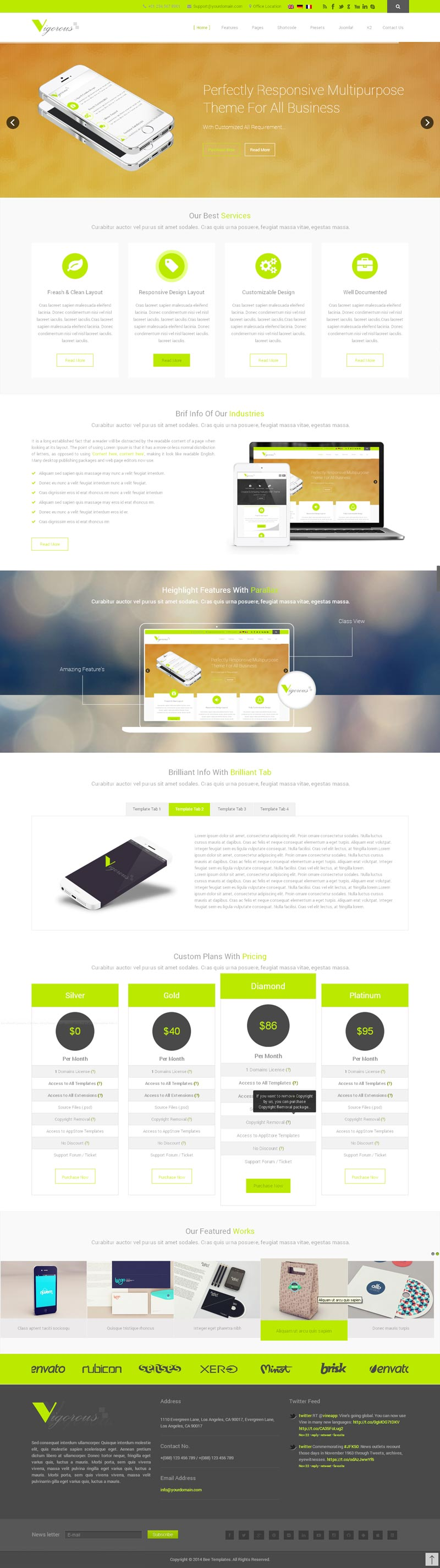 Pioneer HTML template