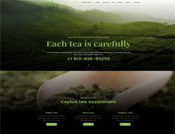 Food Joomla Template - LT Tea