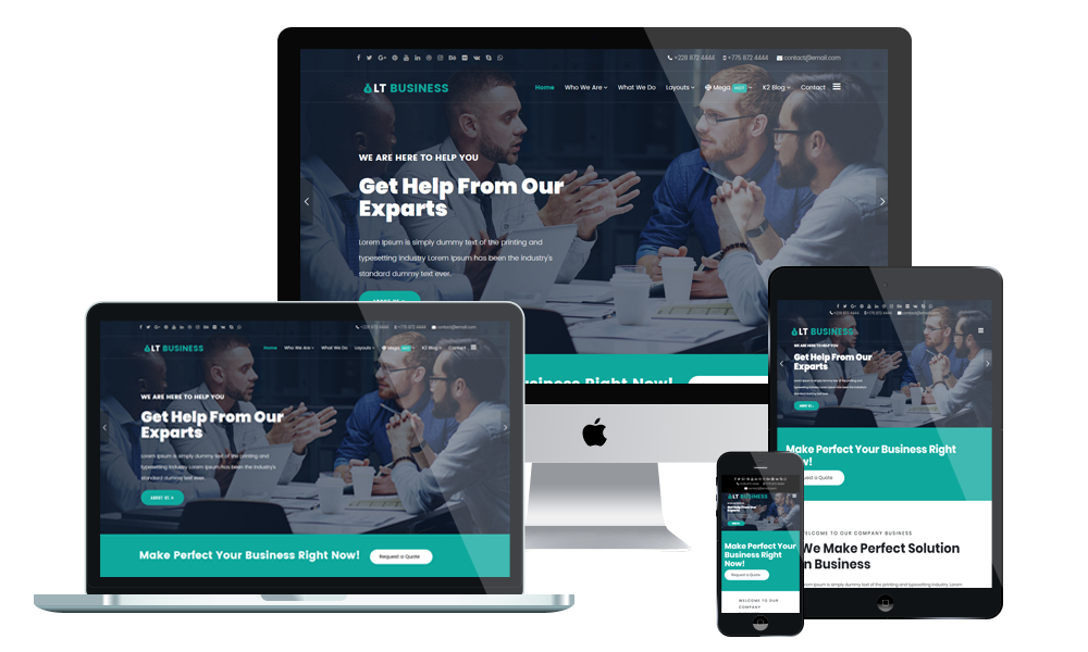LT Business - Corporation WordPress Theme
