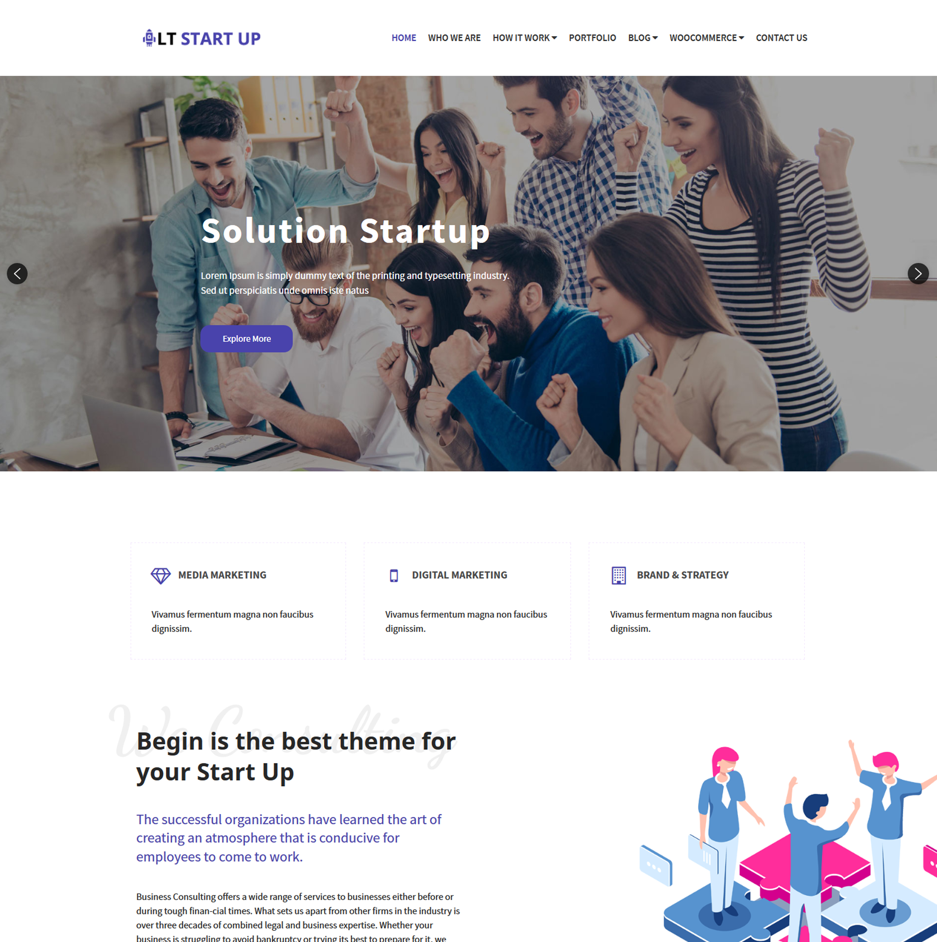 Start Up WordPress Theme