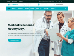 Hospital WordPress theme - LT Medical