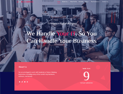 WordPress Theme - LT Blue Service