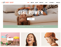 Joomla! 3 HikaShop Template  - LT Baby Shop