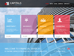Financial Joomla! Template - 002076