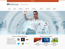 WordPress Theme - RT MetroCorp