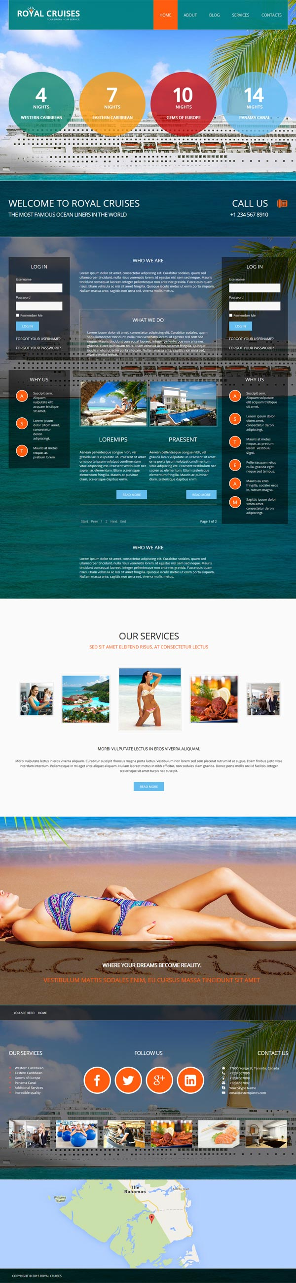 Responsive Travel Joomla! template