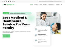 Medical Joomla Template - AT Hospital