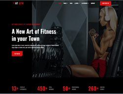 Fitness Joomla Template - AT Gym