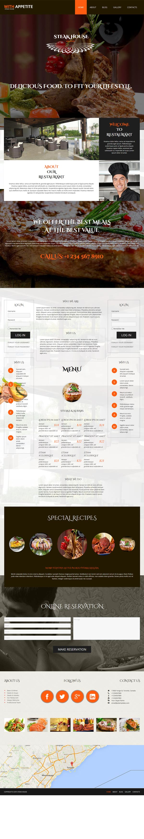 Steak House Joomla! template