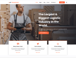 Logistic Joomla Template - AT Transport