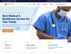 Medical Joomla Template - AT Health