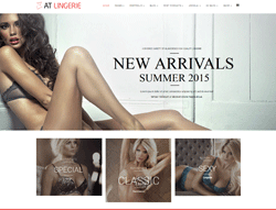 Underwear Joomla Template - AT Lingerie