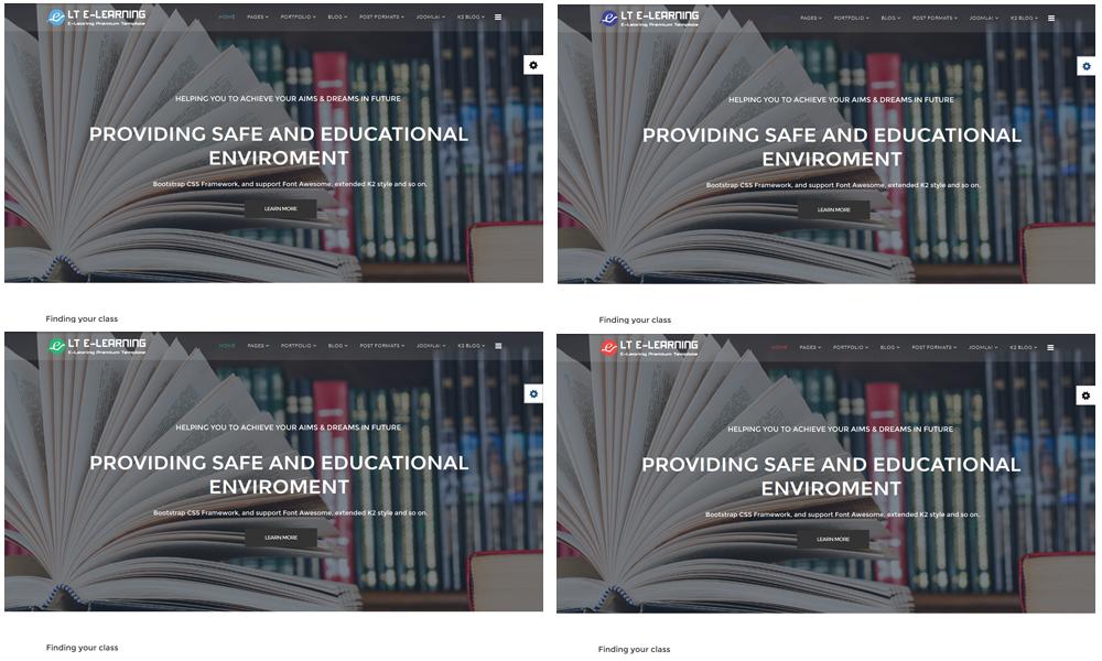 LT eLearning Joomla template