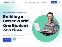 Joomla! 3 Template - AT University
