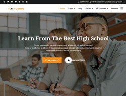 Education Joomla Template - AT School