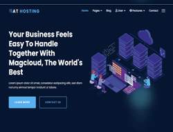 Hosting Services Joomla Template - AT Hosting