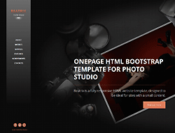 HTML Bootstrap Template - 001023