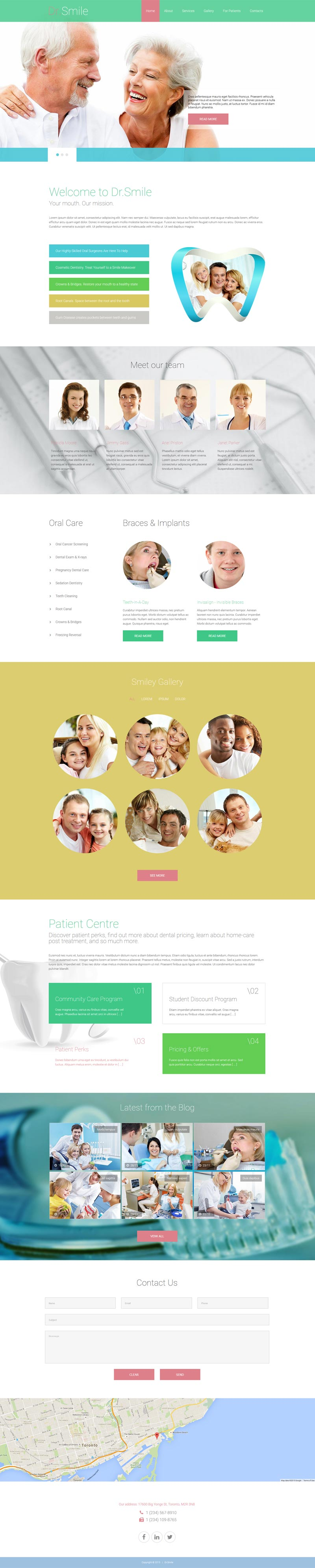 Doctor Smile Joomla! template