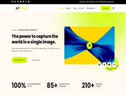 Photography Joomla Template - AT Pixel
