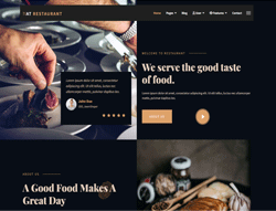 Restaurant Joomla Template - AT Restaurant