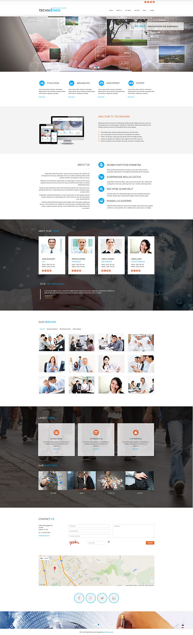 Techno Web HTML template