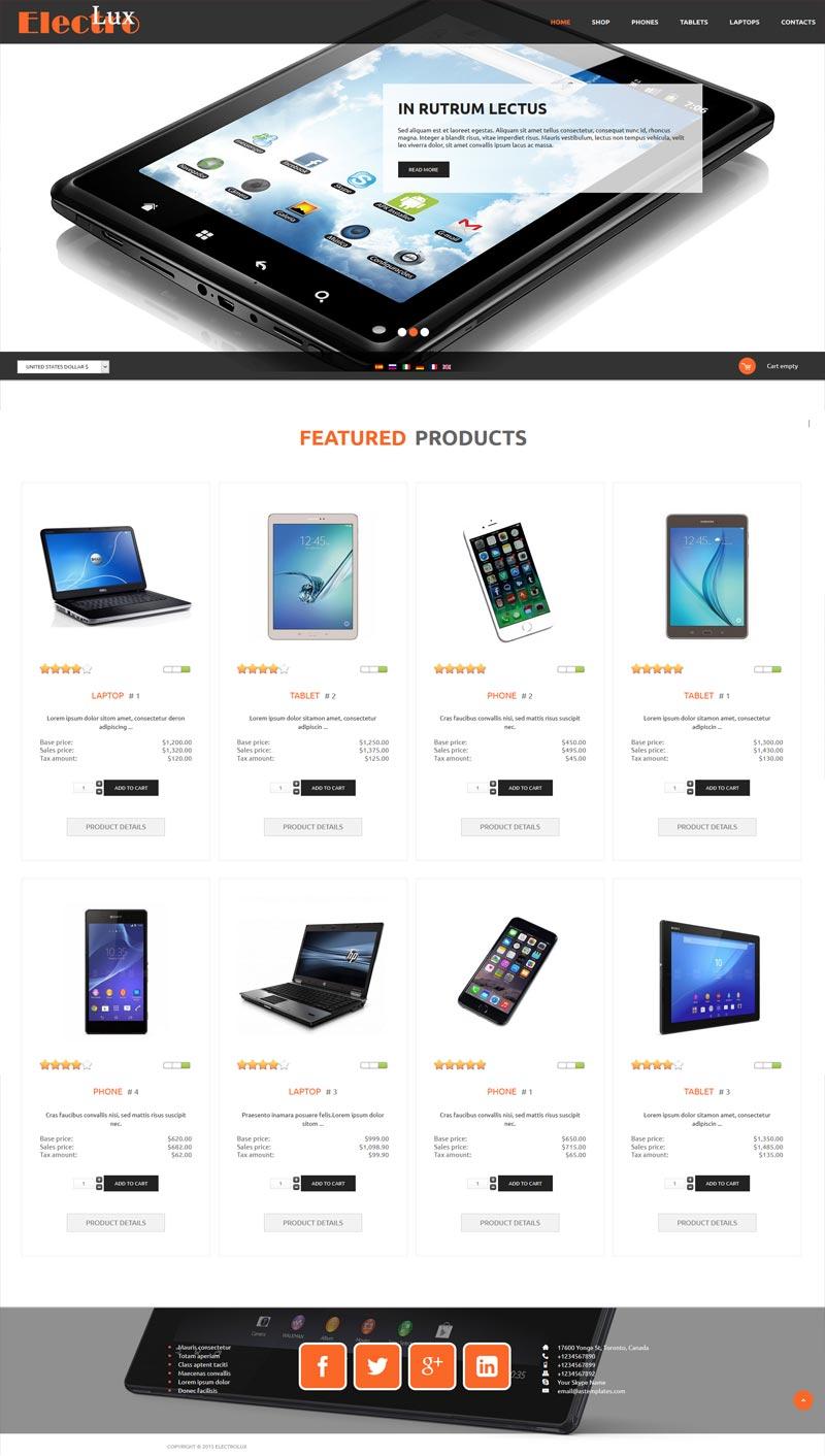 ElectroLux Joomla! template