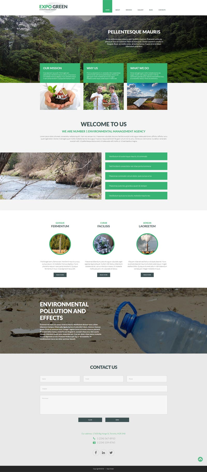 Environmental Agency Joomla! Template
