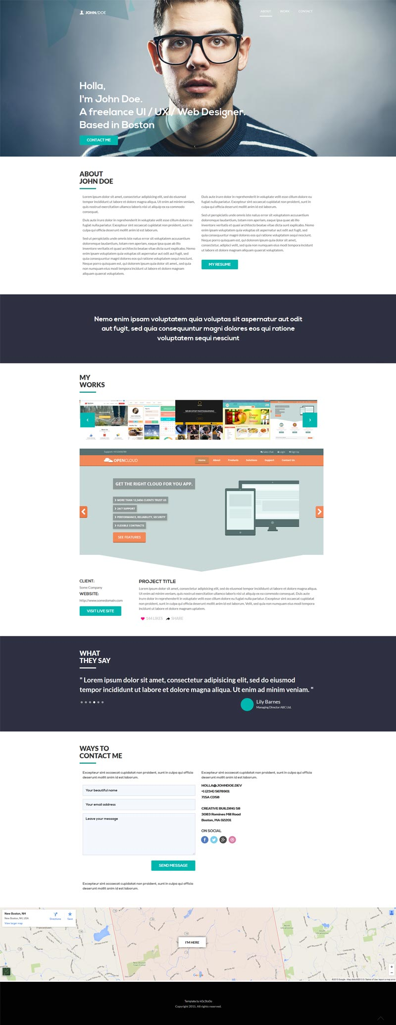Personal Web HTML template