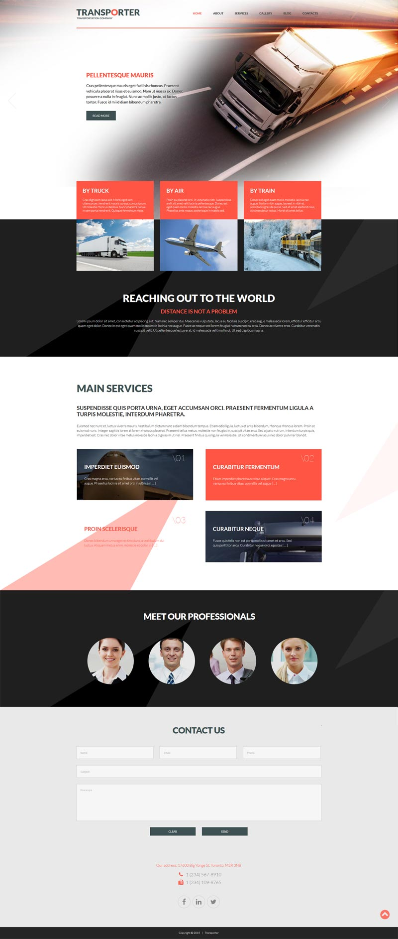 Transportation Joomla! template