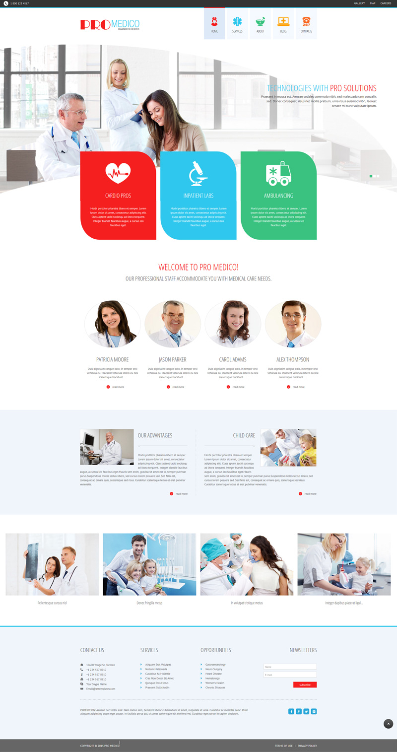 Medical Joomla! template
