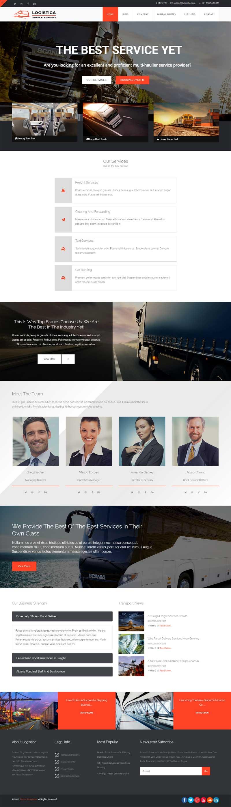 Logistics Joomla! template