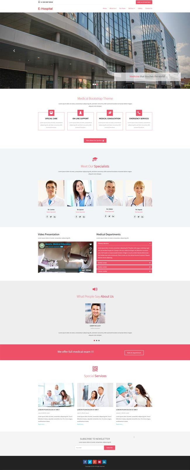 medical bootstrap template
