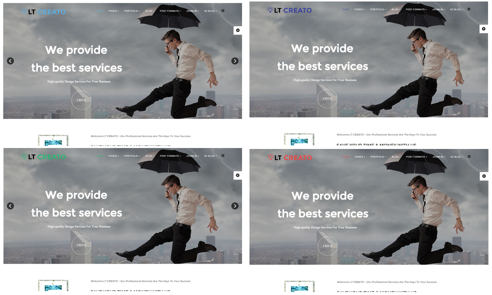LT Creato free Joomla template colors