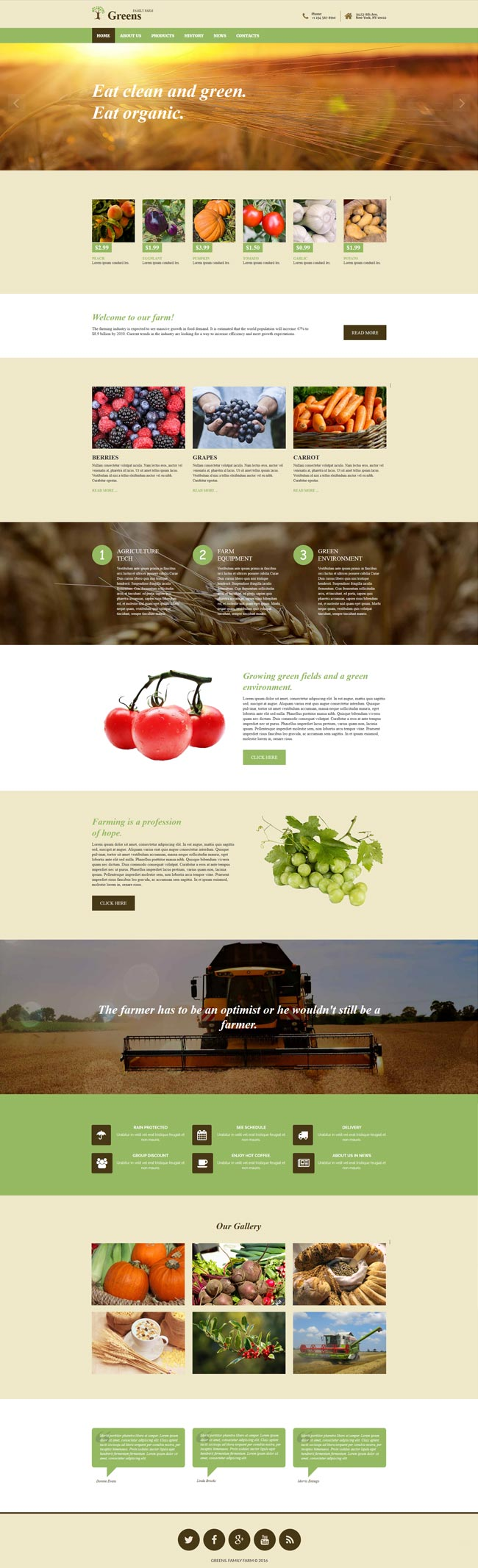 agriculture bootstrap template