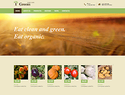 Bootstrap Theme - Greens B