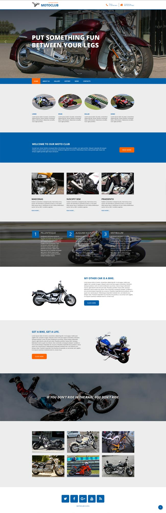 motoclub bootstrap template