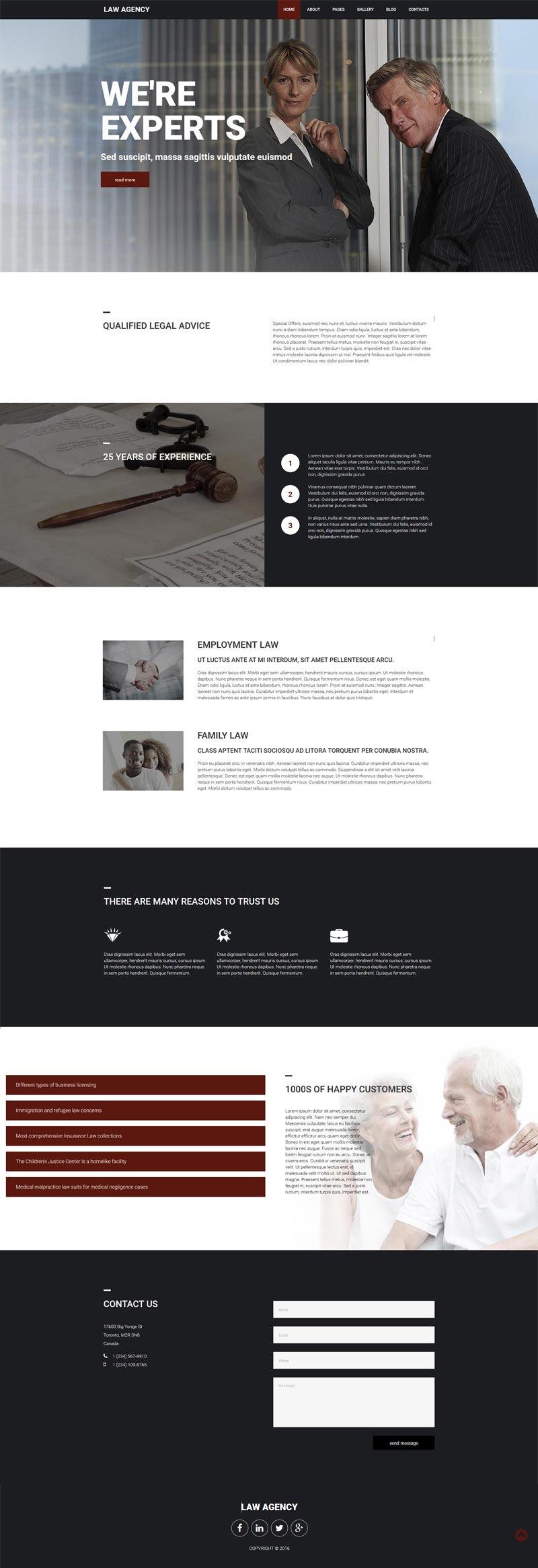 Law agency Joomla! template