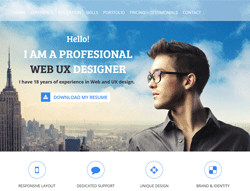 One Page Bootstrap Theme - Bootstrap CV TW