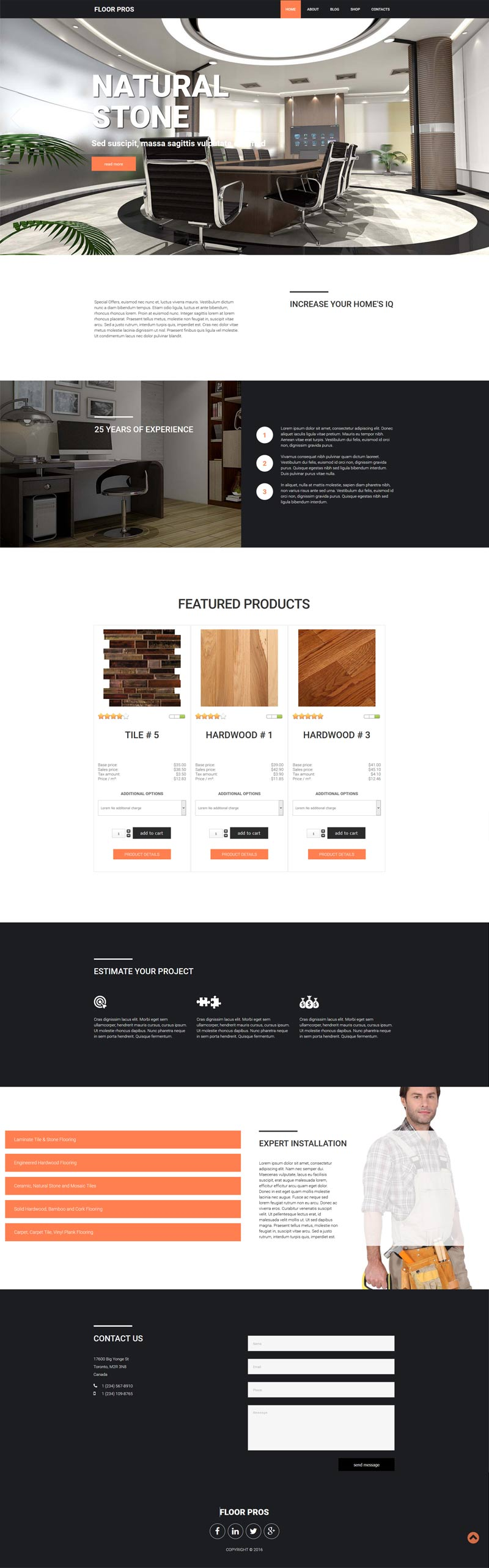 Flooring eCommerce Joomla! template